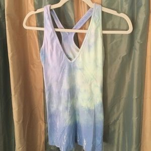Hard Tail Purple/Blue tie dye Yoga tank
